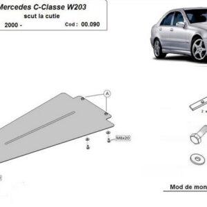 SCUT METALIC CUTIE DE VITEZE AUTOMATA MERCEDES C-CLASS W203 2000-2007