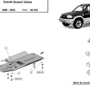 SCUT METALIC CUTIE DE VITEZE SUZUKI GRAND VITARA 1999-2005
