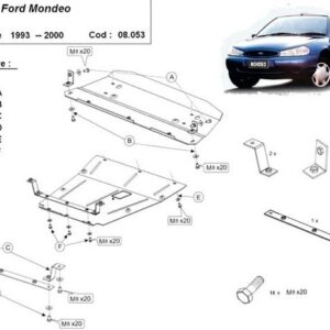 SCUT MOTOR METALIC FORD MONDEO 1993-2000