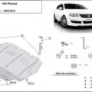 SCUT PROTECTIE MOTOR METALIC VOLKSWAGEN PASSAT B6/B7 2005-2014