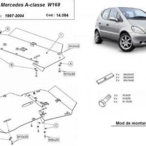Scut motor metalic Mercedes A-Class W168 1997-2004