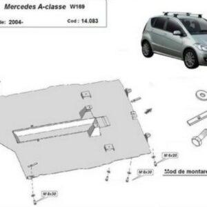 Scut motor metalic Mercedes A-Class W169 2004-2012